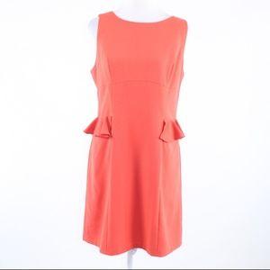 Andrew Marc coral orange sleeveless sheath dress M